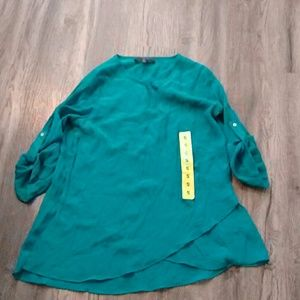 Fever Green Tunic 3/4 sleeves small